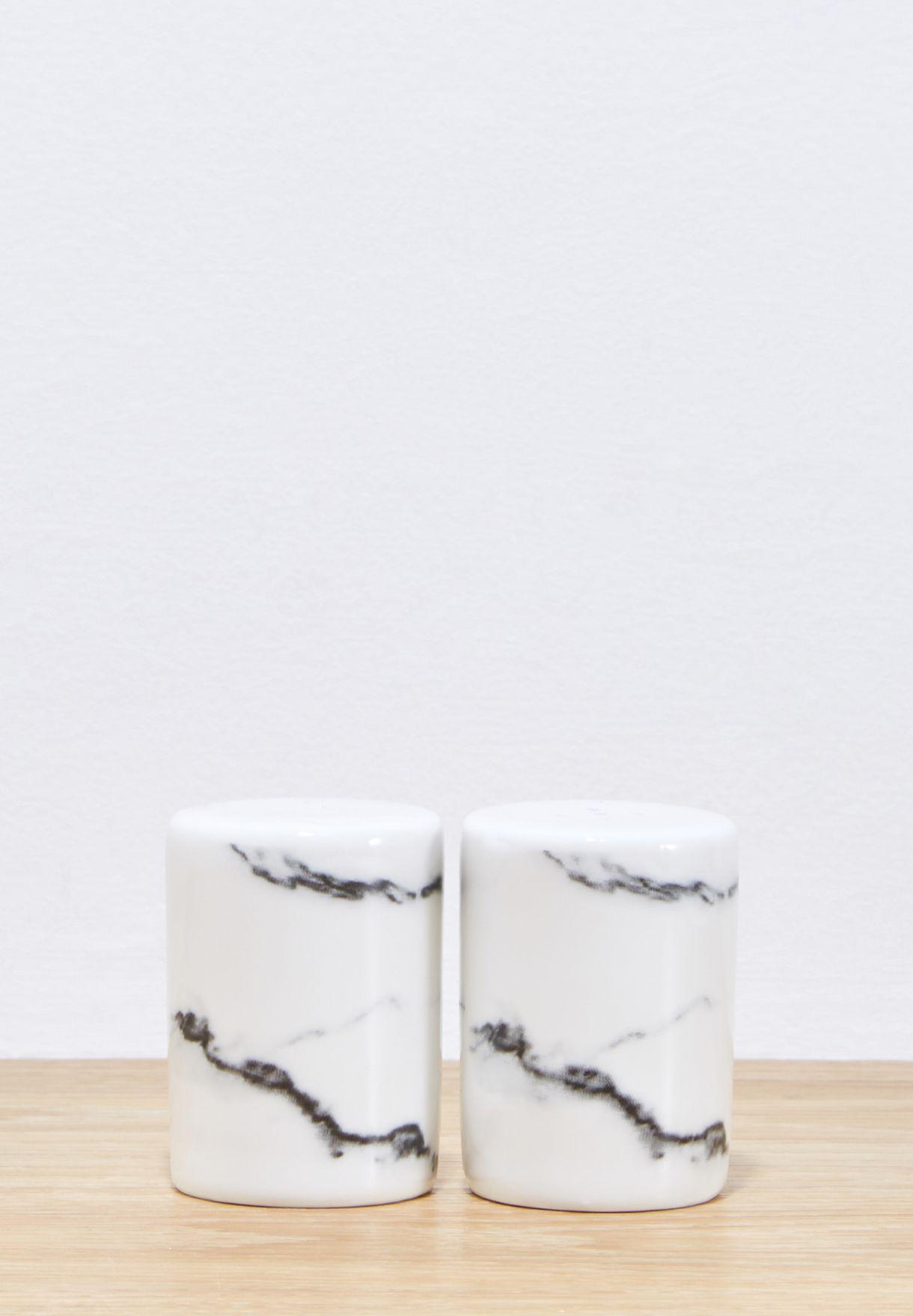 Marbled Salt & Pepper Shaker Set