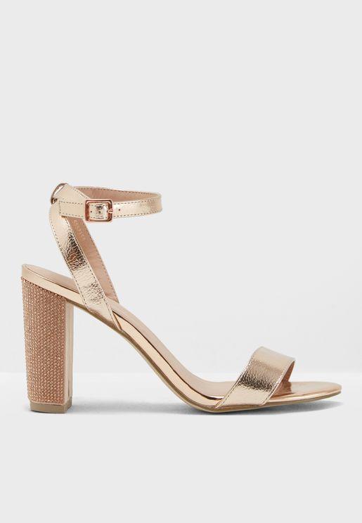 Embellished Heel Sandal