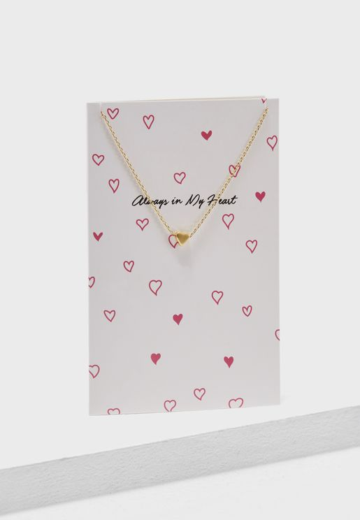 Miriam Heart Pendant Necklace Giftcard Box