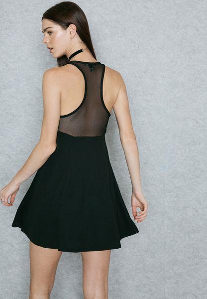 Shop Forever 21 black Skater Dress 00321799 for Women in UAE durable  modeling 143c45edf