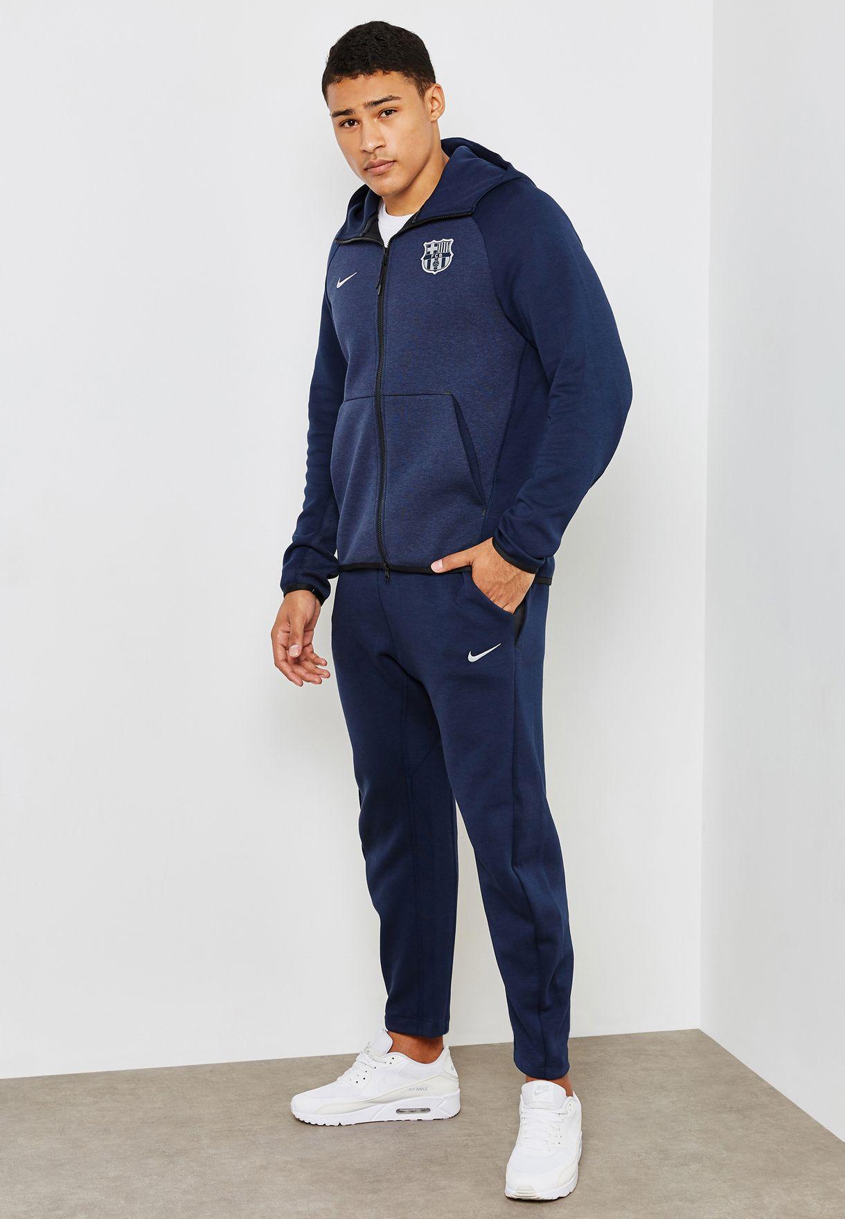 ee0bd0c19812 Shop Nike navy FC Barcelona Tech Fleece Authentic Sweatpants AH5463 ...