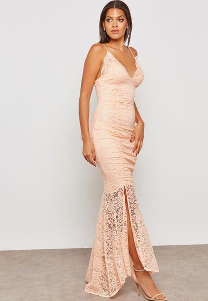 Cami Lace Slit Maxi Dress