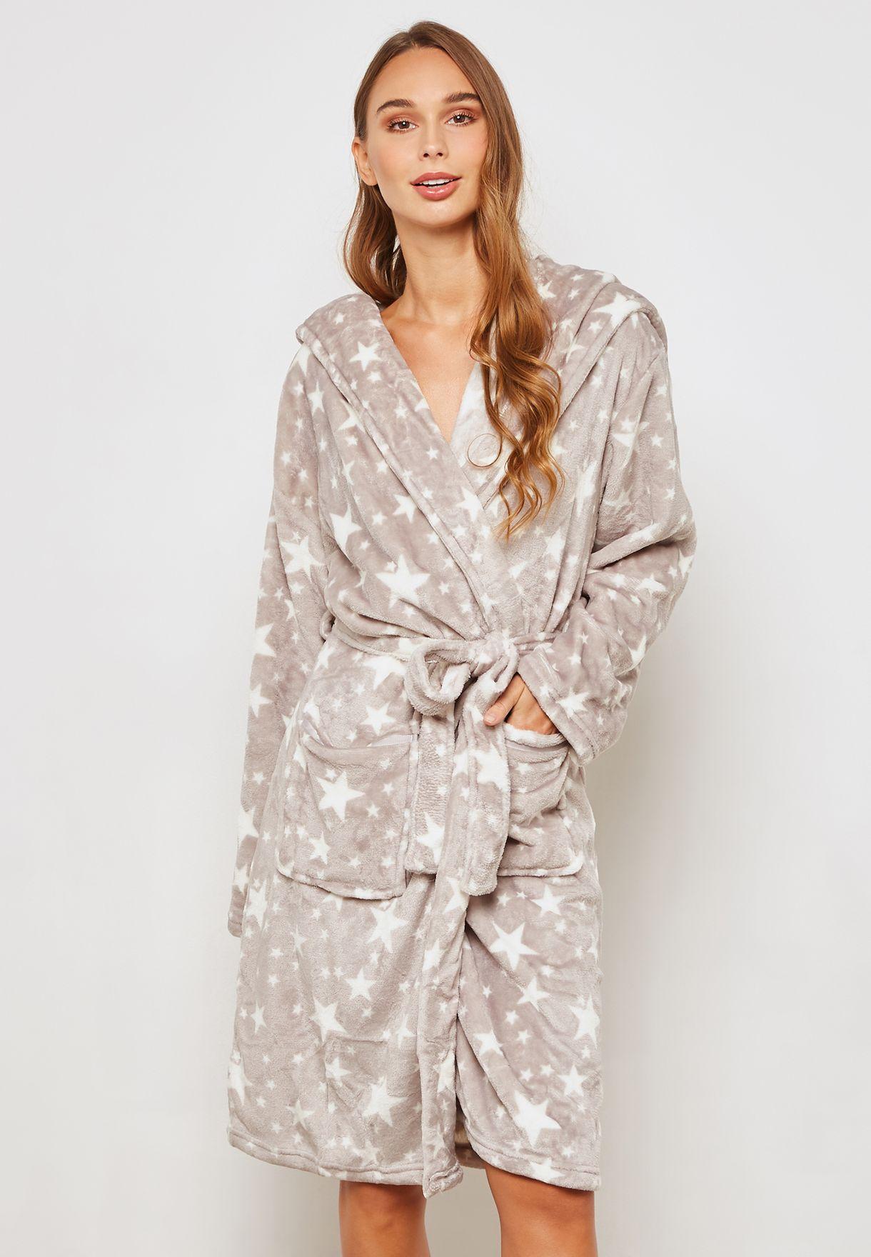f05af25ac0 Shop Dorothy Perkins grey Hooded Robe 33133352 for Women in Qatar -  DO860AT82OBD