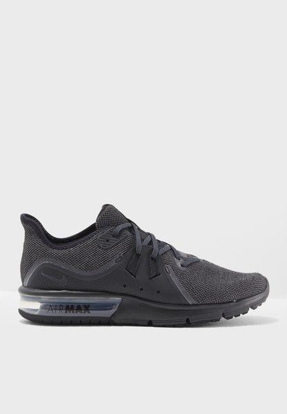 Shop Nike black Air Max Sequent 3 921694-010 for Men in Saudi - NI727SH82ZSF