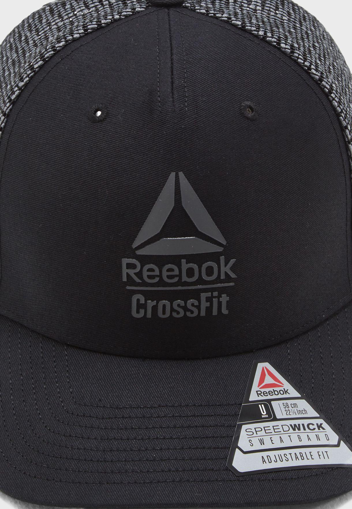 Shop Reebok black CrossFit Cap CZ9887 for Men in Saudi ... 182b70e9a8f