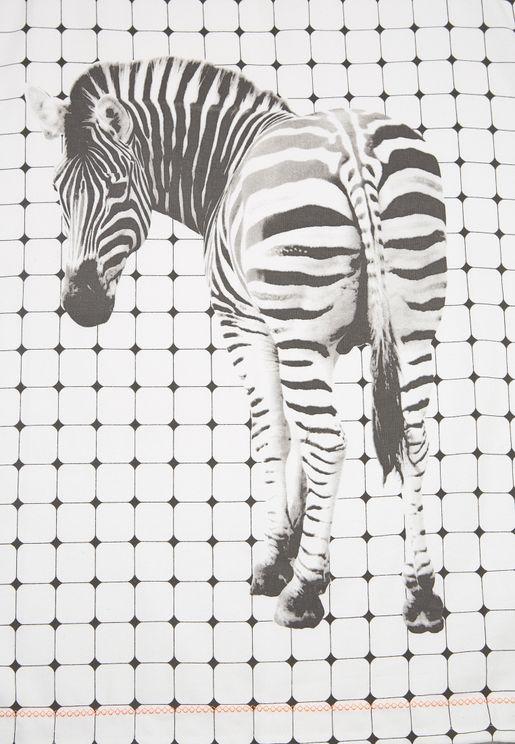 Tiles Zebra Tea Towel