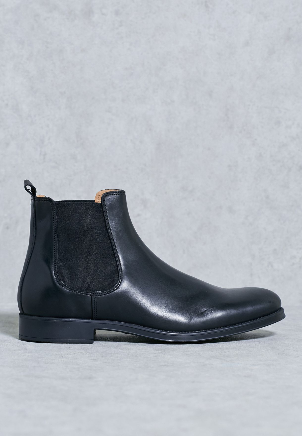 2633bb8122a Shop Selected homme jeans black Oliver Chelsea Boots 16053247 for ...
