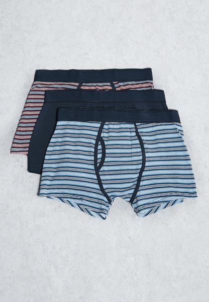 3 Pack  Striped  Boxers