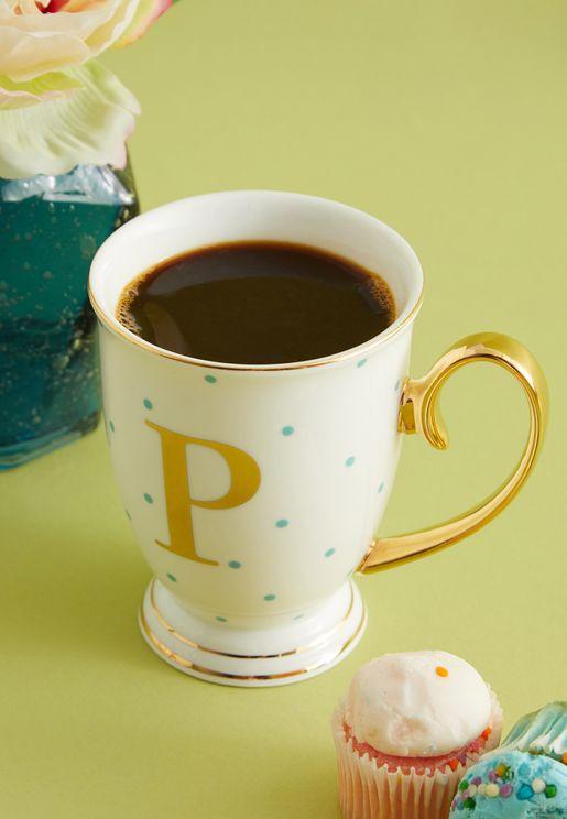 P Alphabet Spotty Mug