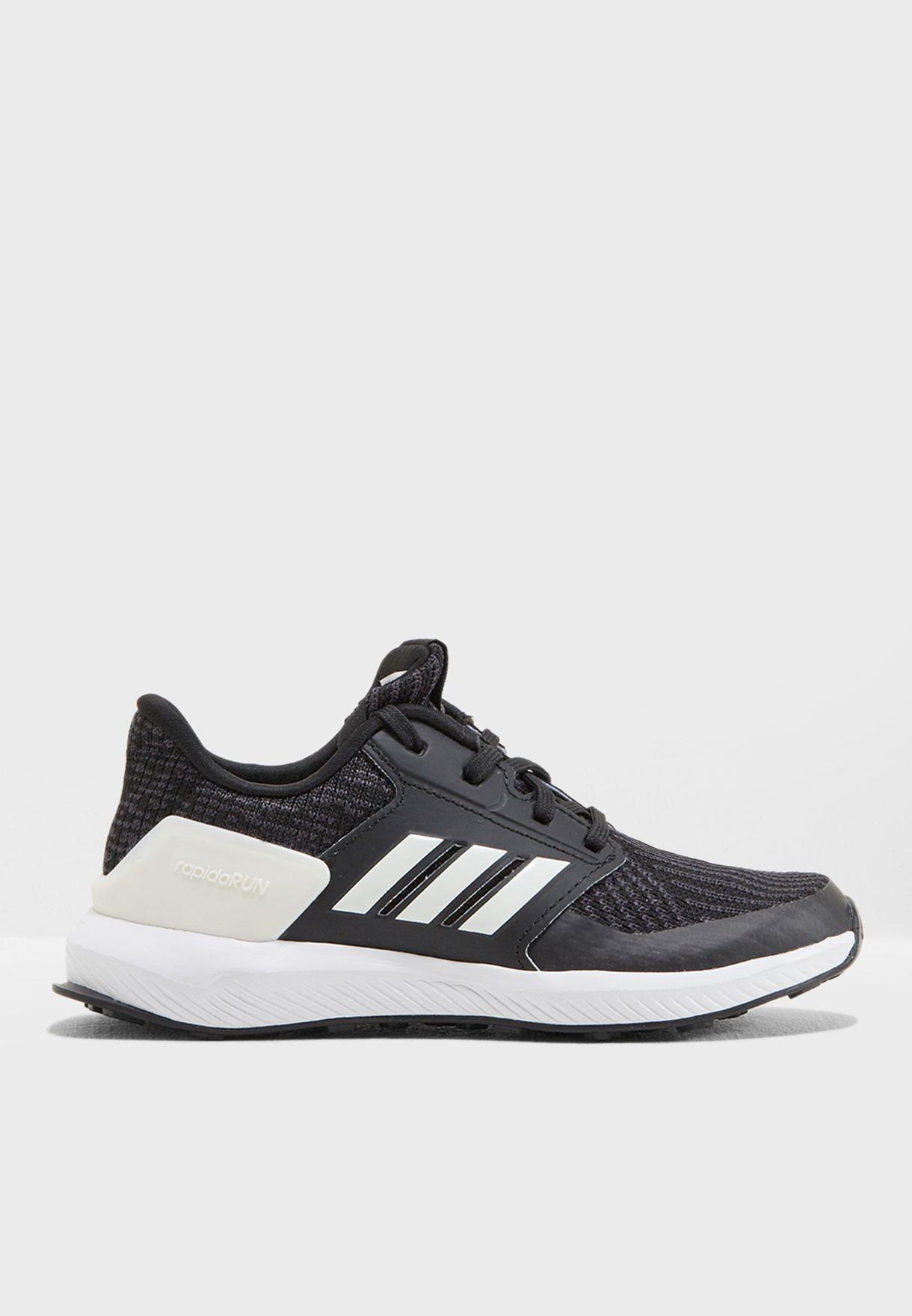 226617964 تسوق حذاء رابيد رن محبوك للاطفال ماركة اديداس لون أسود AH2608 في ...