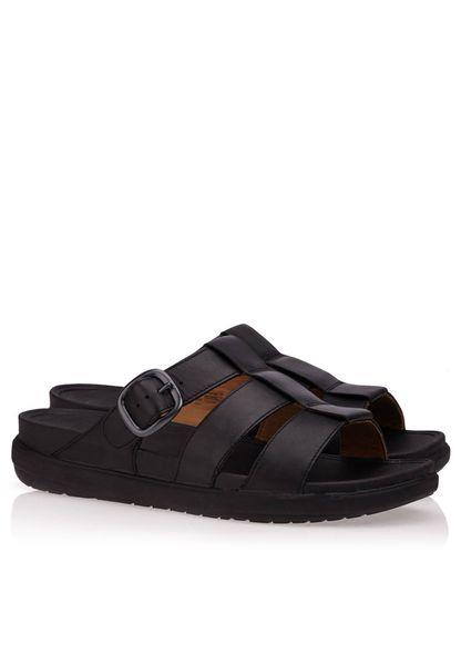 FitFlop Ffisher Slide Black Sandals - Men