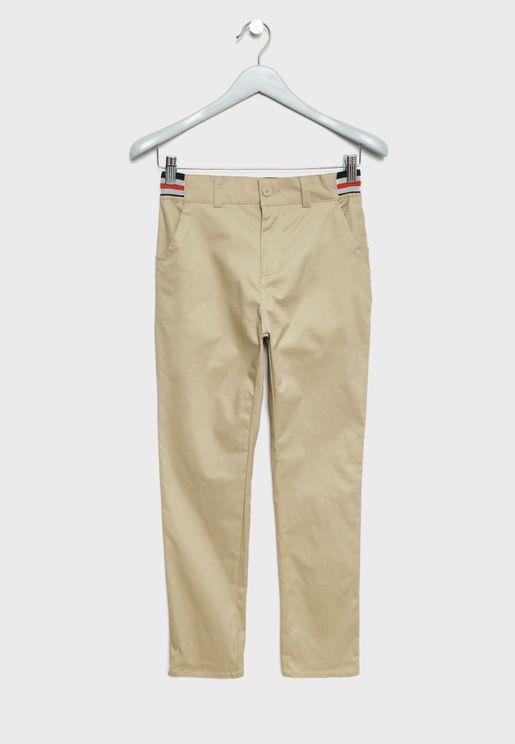 Teen Striped Waist Trousers
