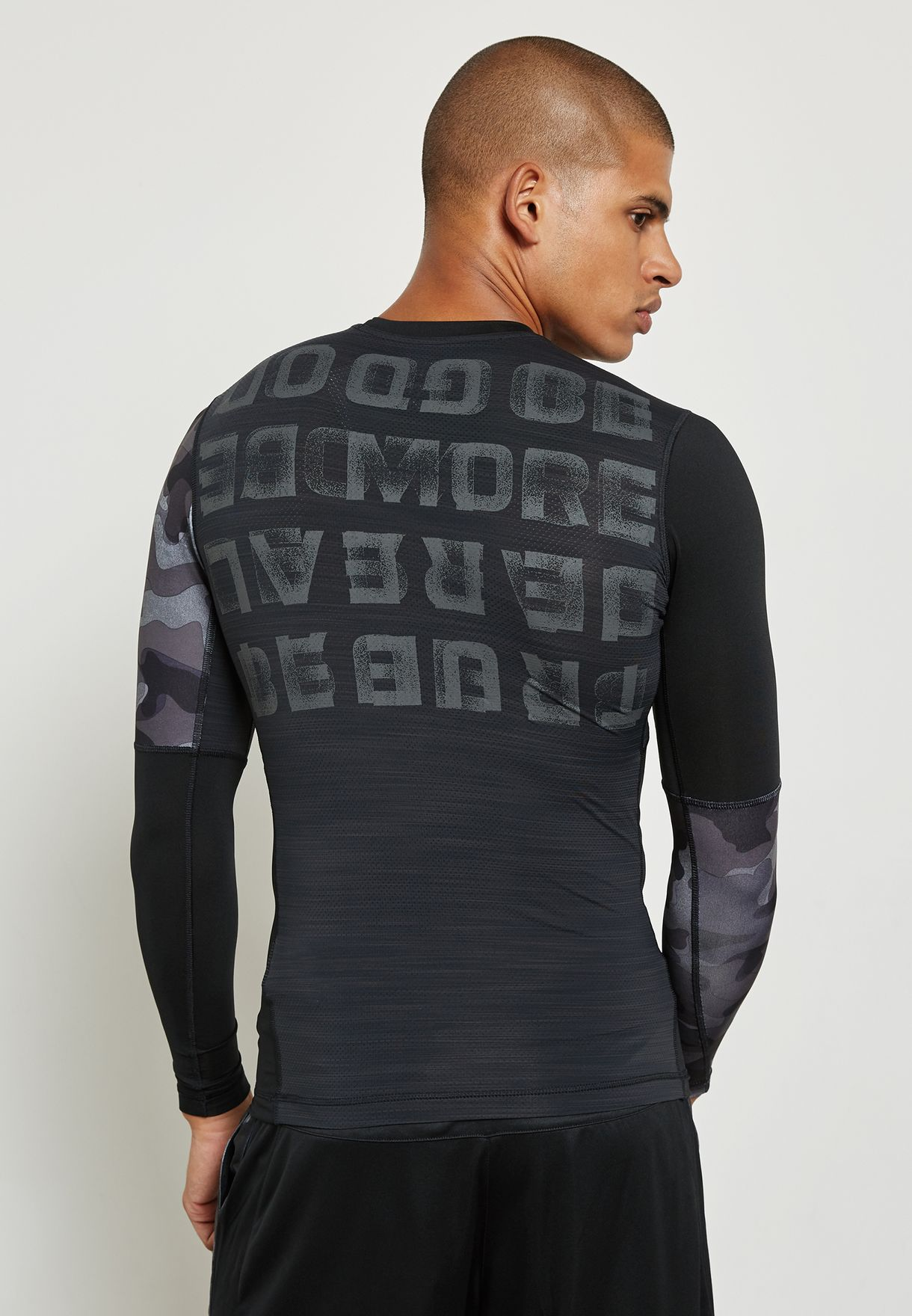 aaceb43a8dc0 Shop Reebok black ACTIVChill Graphic Compression T-Shirt BR9579 for ...