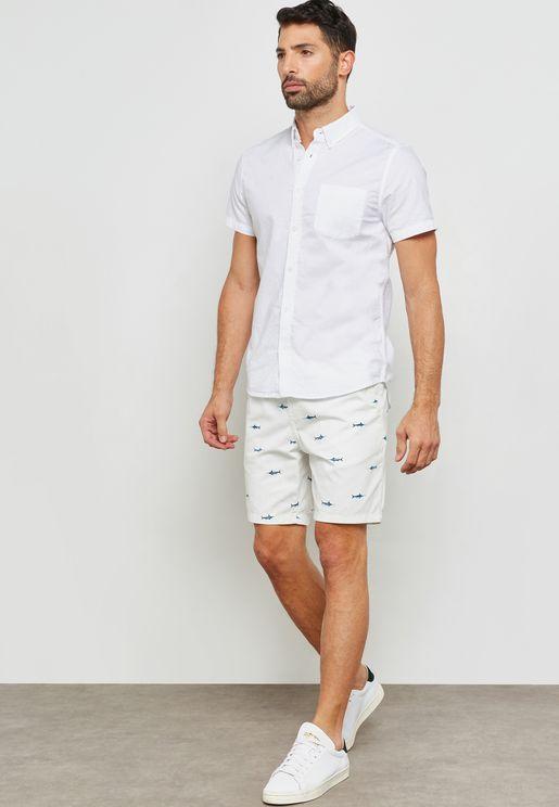 Shark Print Shorts