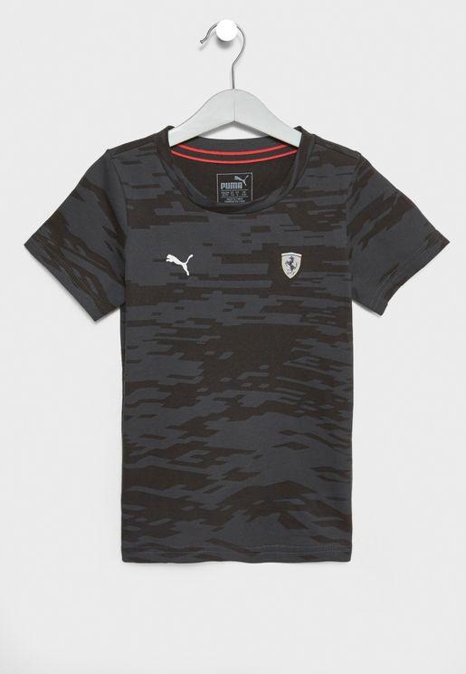 Kids Ferrari Summer T-Shirt