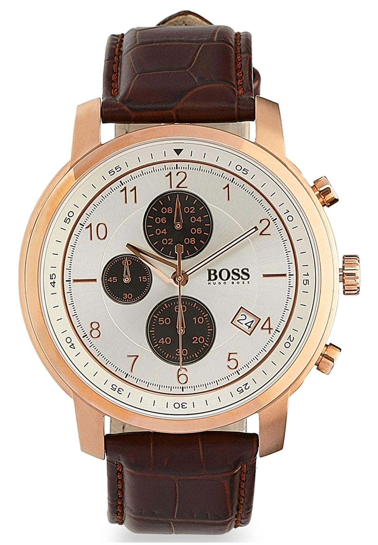 9c5305013 تسوق ساعة يد ماركة هوجو بوس لون بني في السعودية - HU783AC82FTP