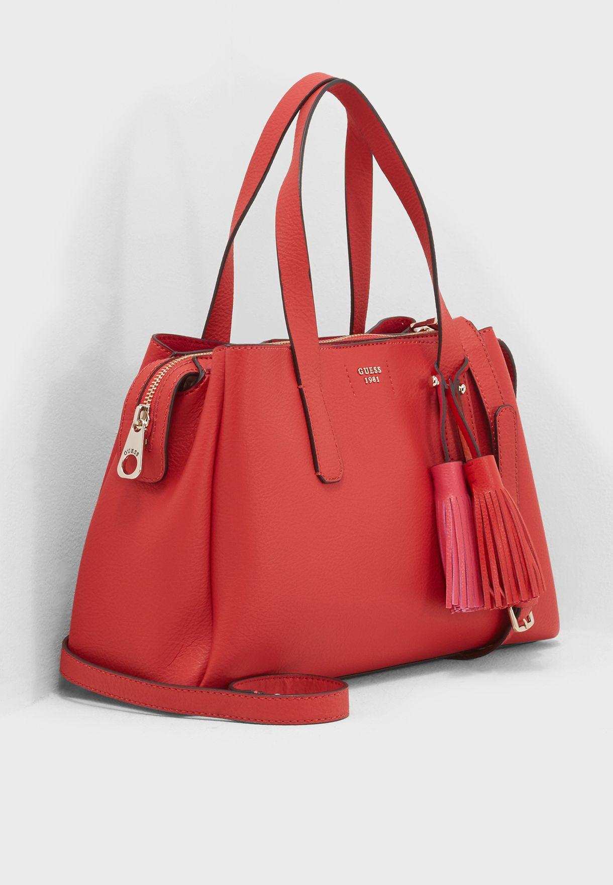 612b73dc4079 Shop Guess red Trudy Girlfriend Satchel VG695406POP for Women in UAE ...