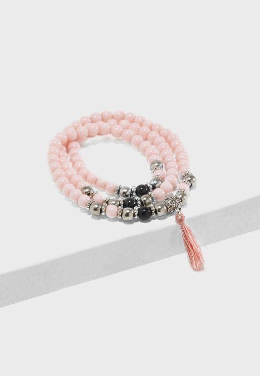 Set Of Tasseled Bracelet