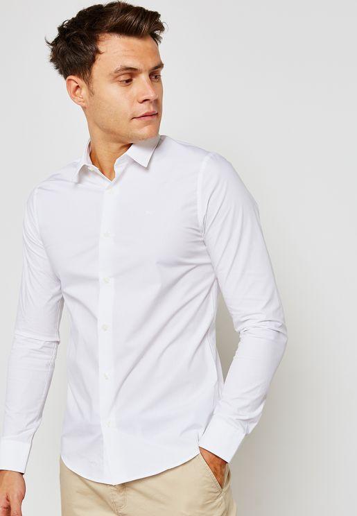 قميص بقصة ضيقة (سلم فت)