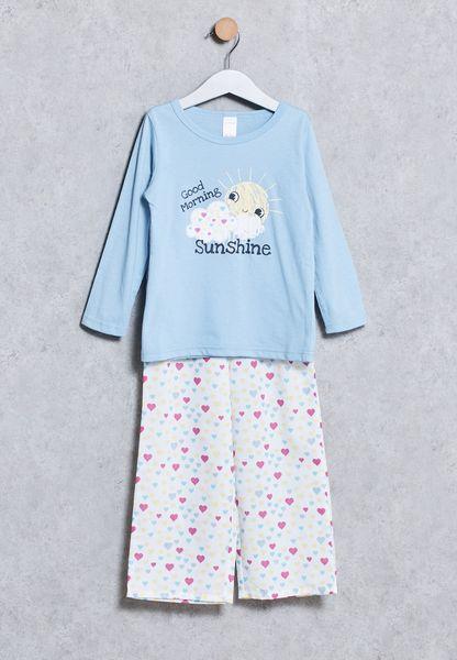 Kids T-Shirt + Pyjama Set