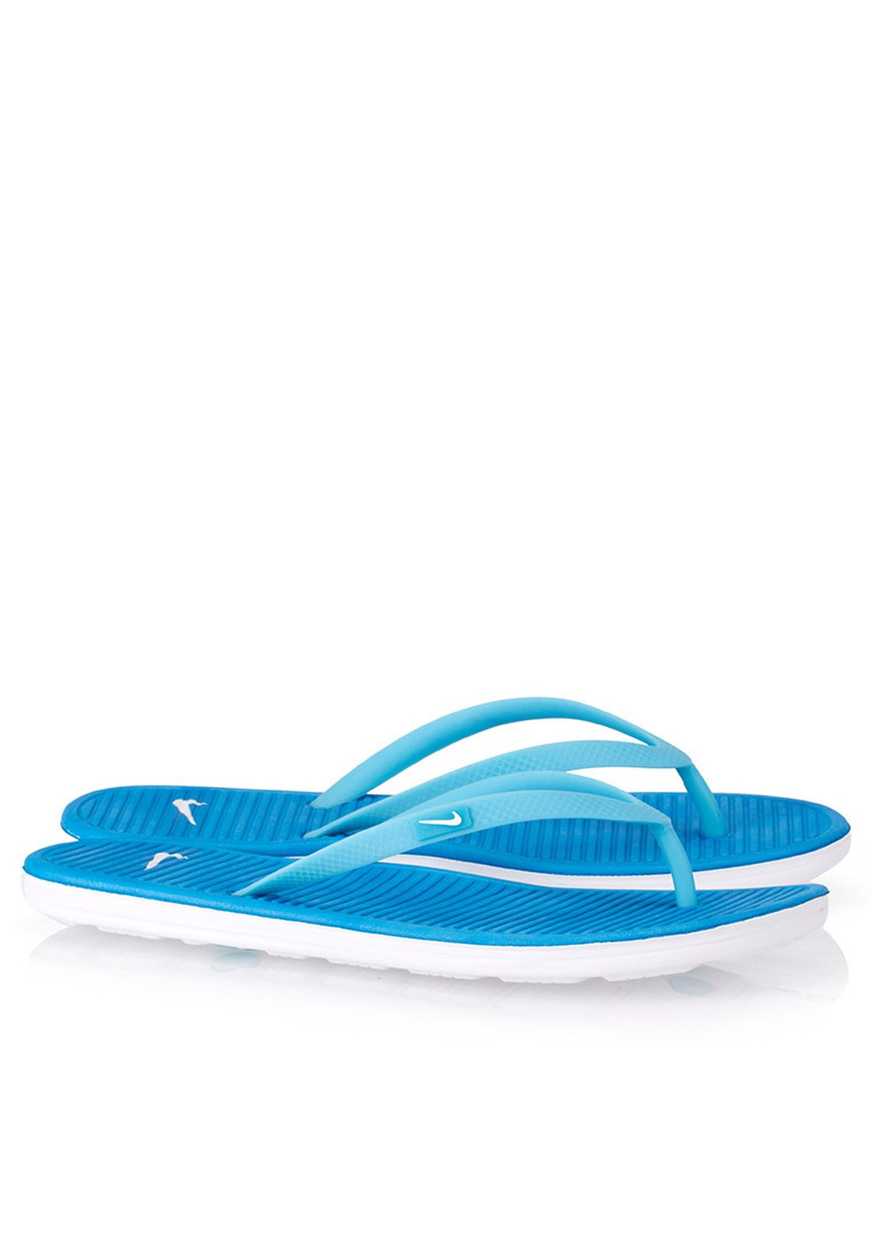 40adddfa83823 Shop Nike blue Solarsoft Thong II Flip Flops 488161-402 for Women in ...
