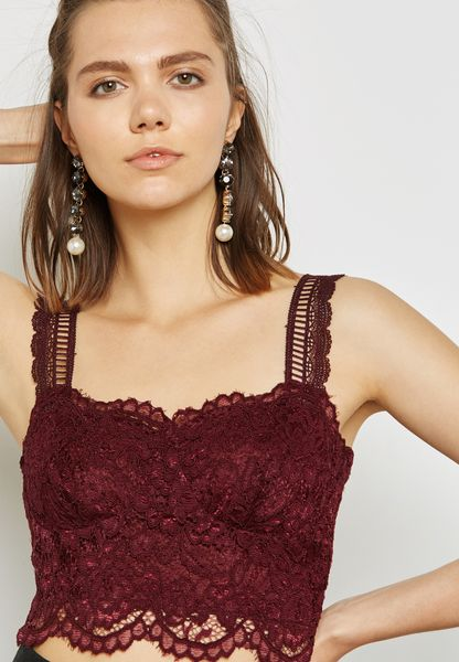Back Zip Detail Bralet