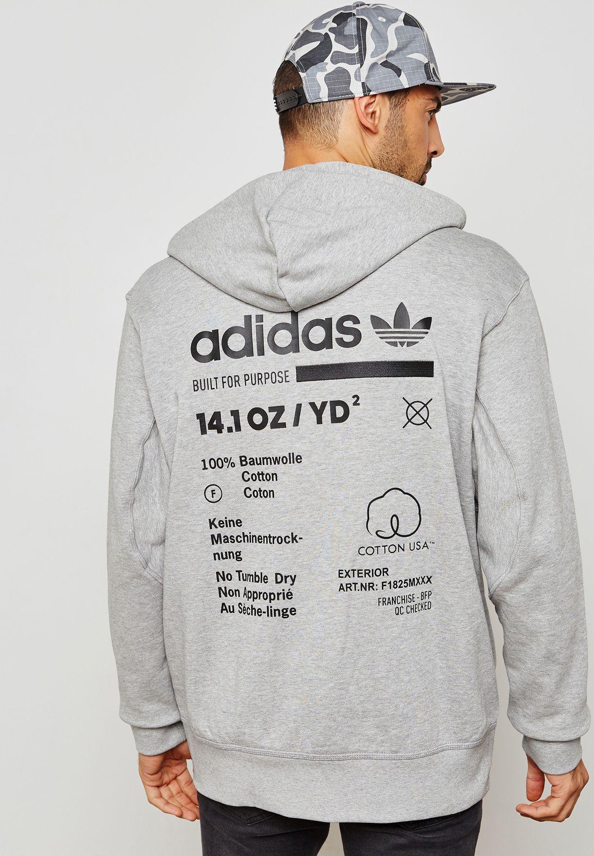 adidas classic grey sweatshirt