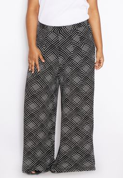 Evans Printed Wide Leg Pants