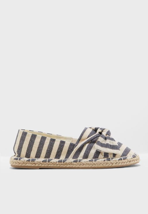 Wide Fit Striped Ciera Espadrille