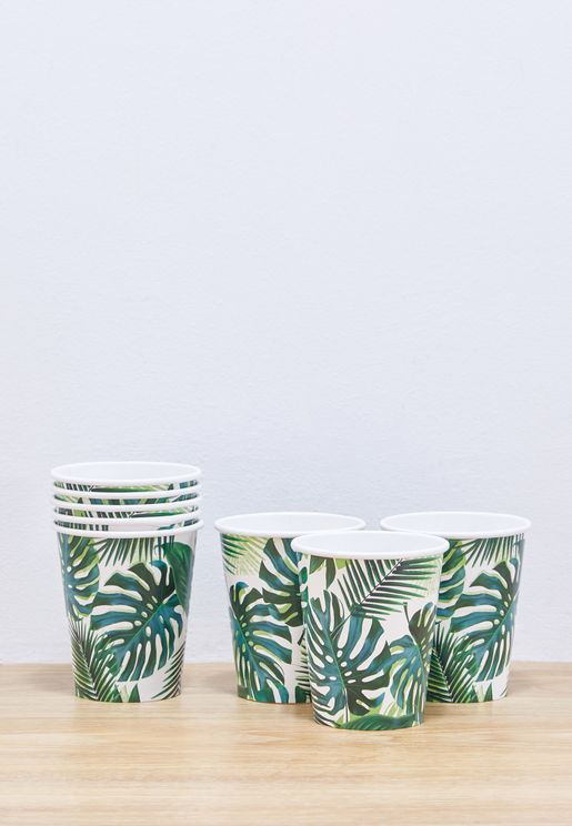 Tropical Fiesta Palm 250Ml Cup 8Pk