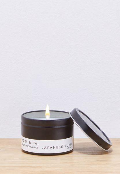 Mini Yuzu Wooden Wick Tin Candle