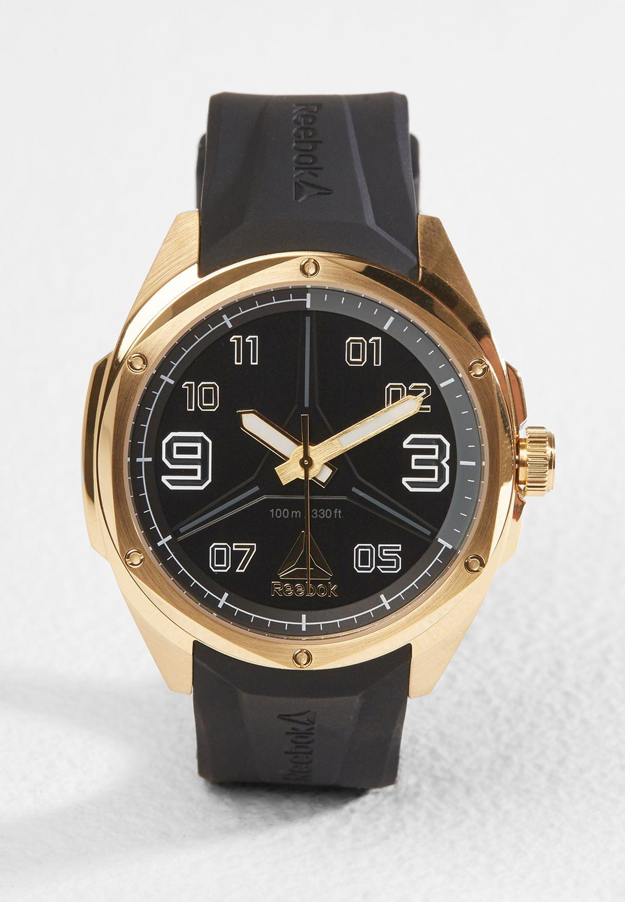 05f33f1bbc36e1 Shop Reebok black Uppercut Watch RD-UPP-G2-S2IB-B2 for Men in Saudi -  RE019AC82MAN