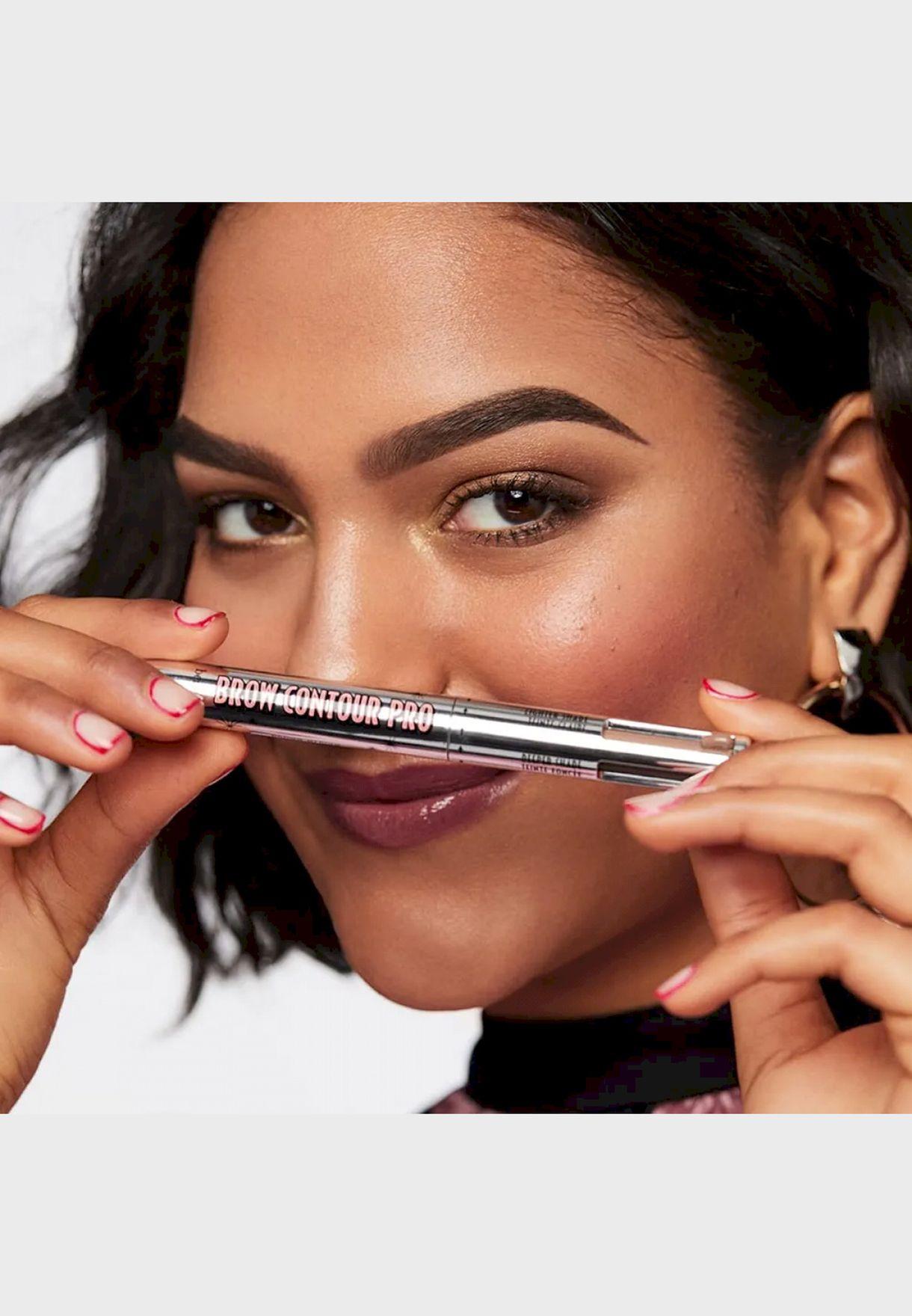 قلم كونتور للحواجب / بني - متوسط