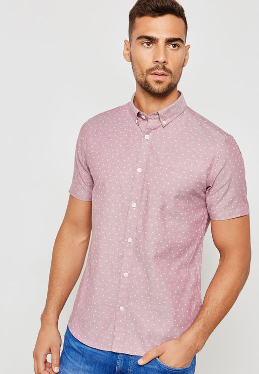 Mini Geometric Print Oxford Shirt