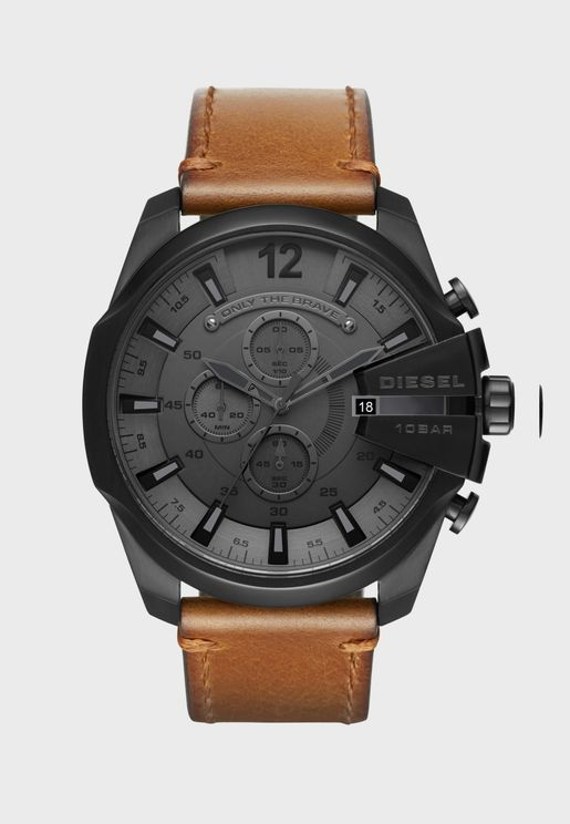 DZ4463 Mega Chief Leather Watch