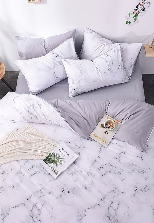 Marble Bedding Set - Double