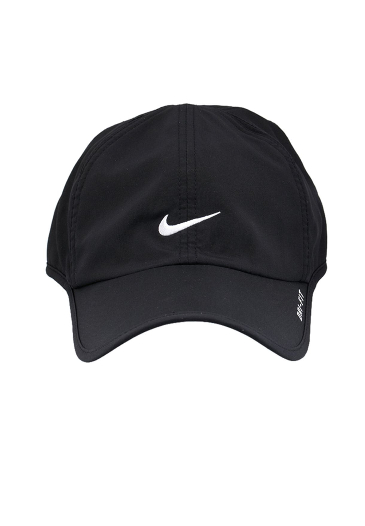 Shop Nike black Feather Light Cap NKAP595510-010 for Men in ... eedacb68cf08