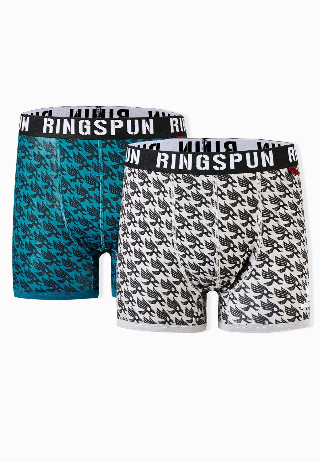 dc50c01f15f Shop Ringspun multicolor 2 Pack Trunks for Men in Bahrain - RI620AT72OOP
