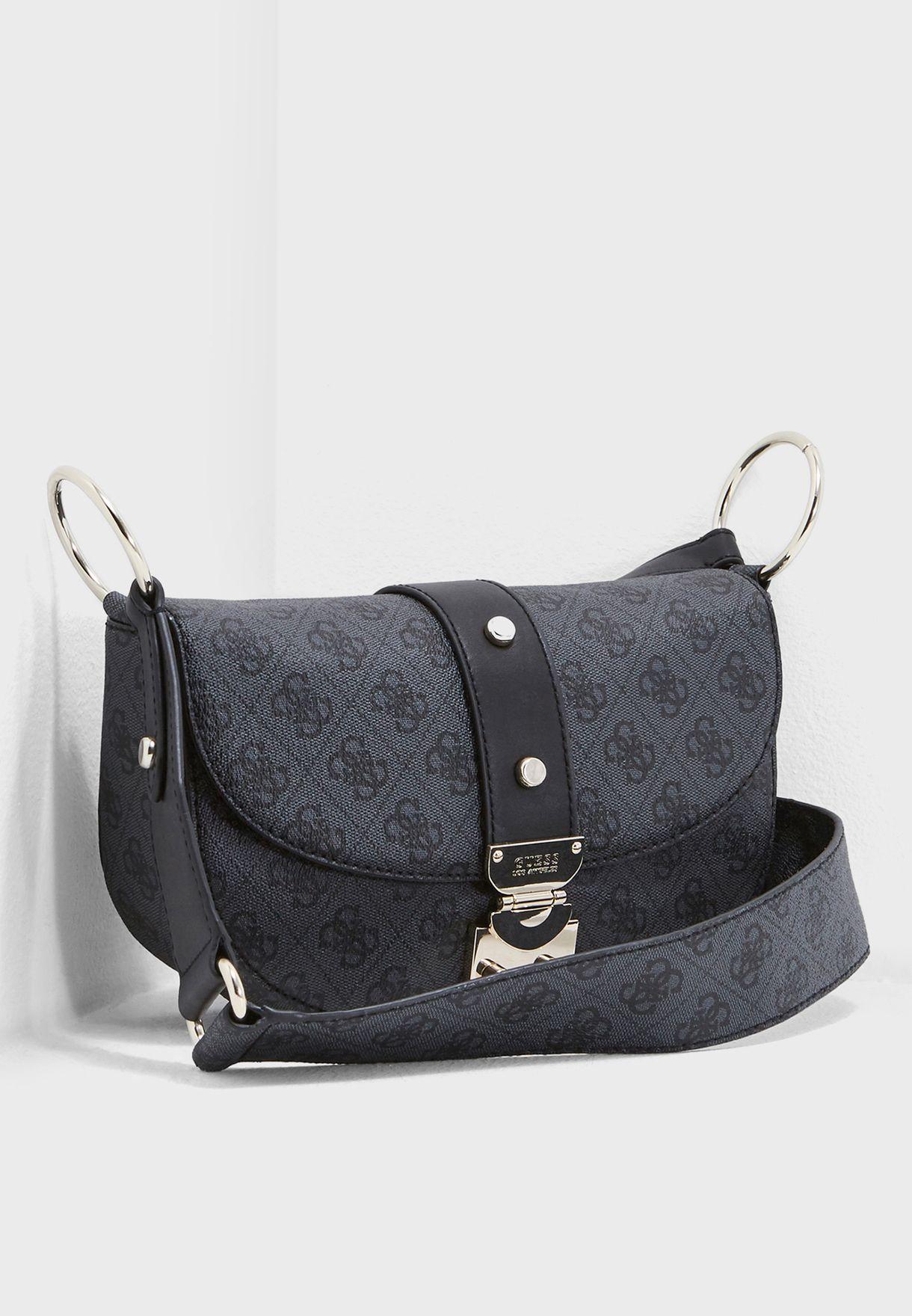 45ed597f7b8e Shop Guess black Florence Crossbody SG699118COA for Women in UAE ...