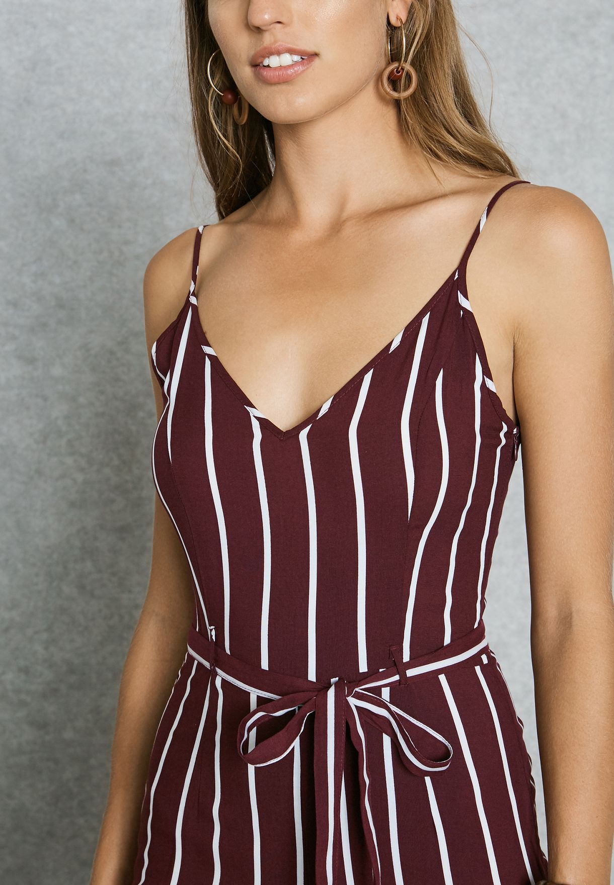 006ad0e0874 Shop Forever 21 red Striped Jumpsuit 95088 for Women in UAE ...