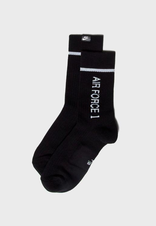 2 Pack AF1 Crew Socks