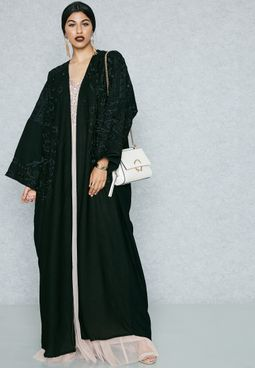 Embroidered Top Abaya