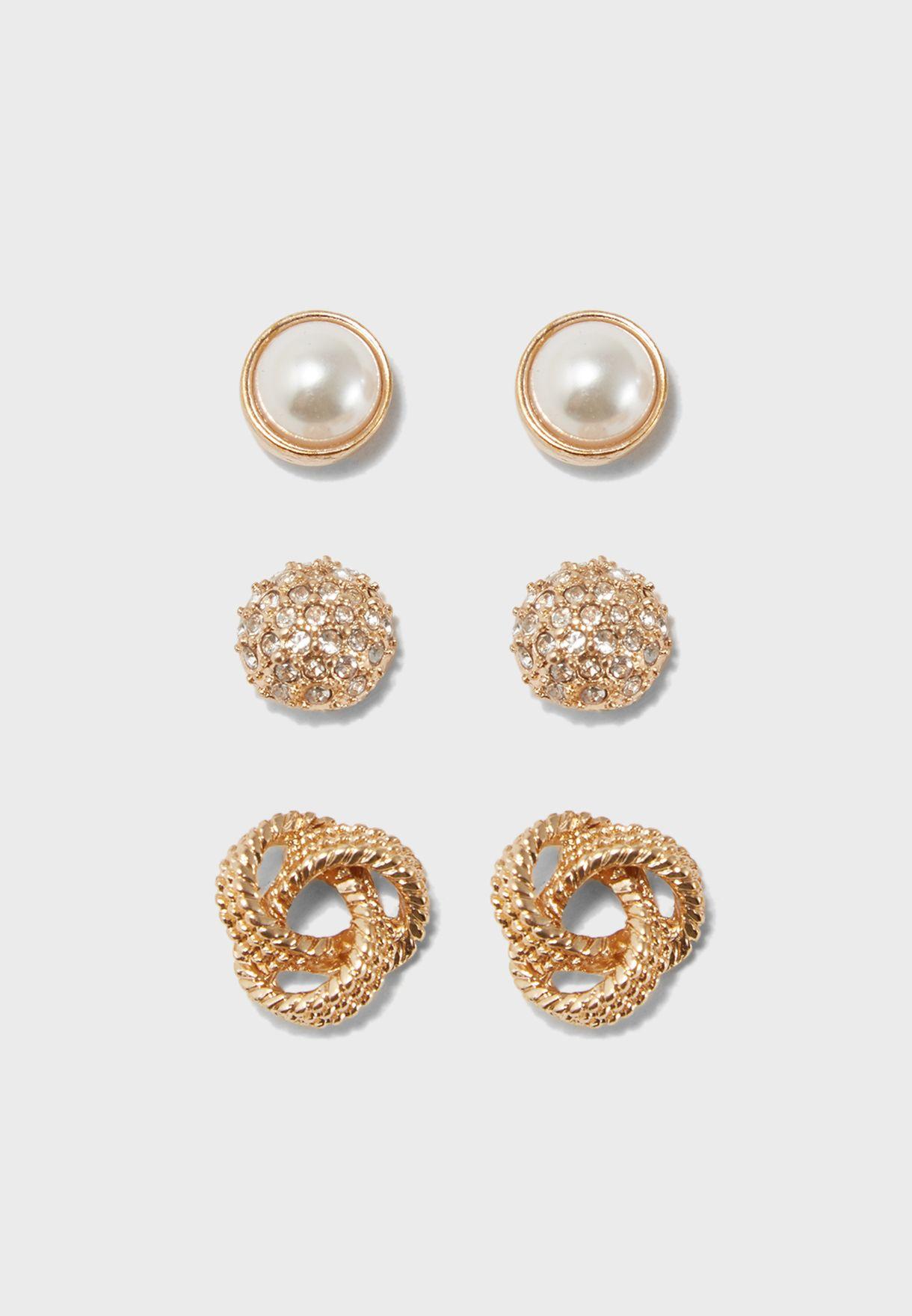 d8446c9c5 Shop Aldo gold Multipack Chissa Earrings CHISSA17 for Women in UAE ...