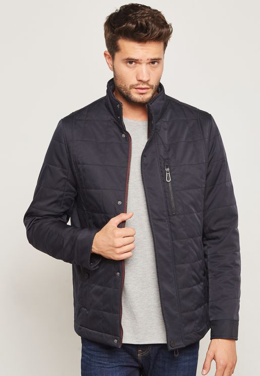 Quilted Harrington Jacket