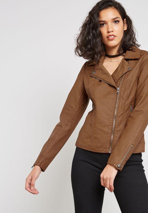 Pu Biker Jacket