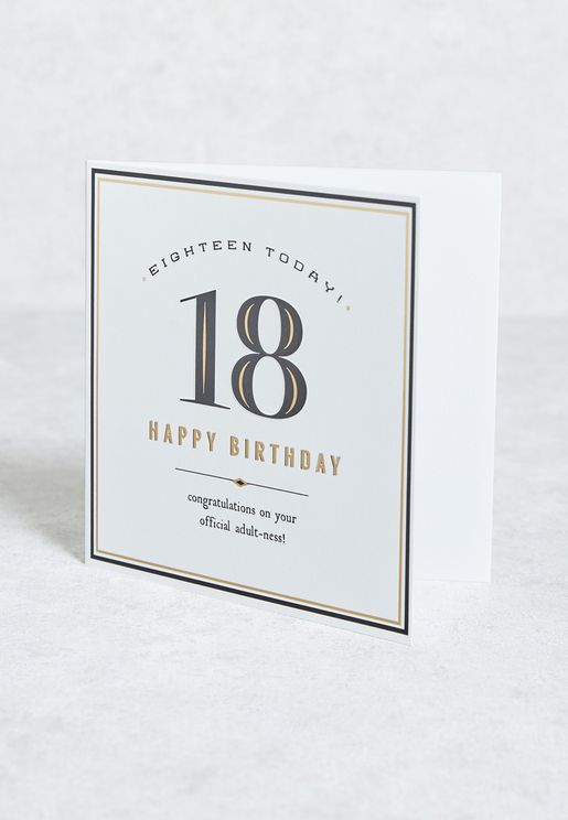Eighteen Today! Official Adult-Ness! Card