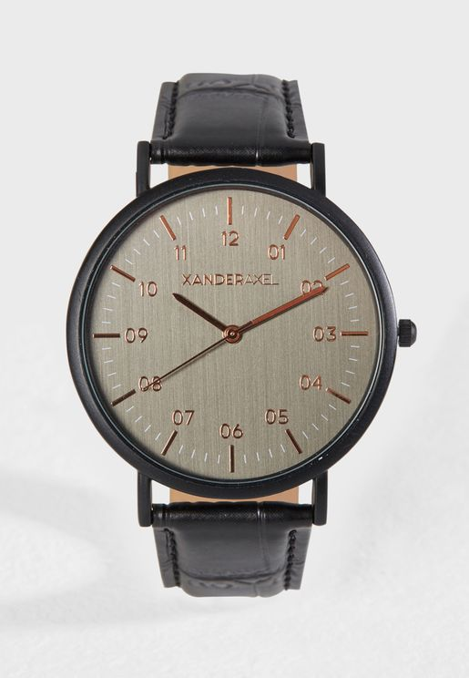 Formal Faux Leather Watch