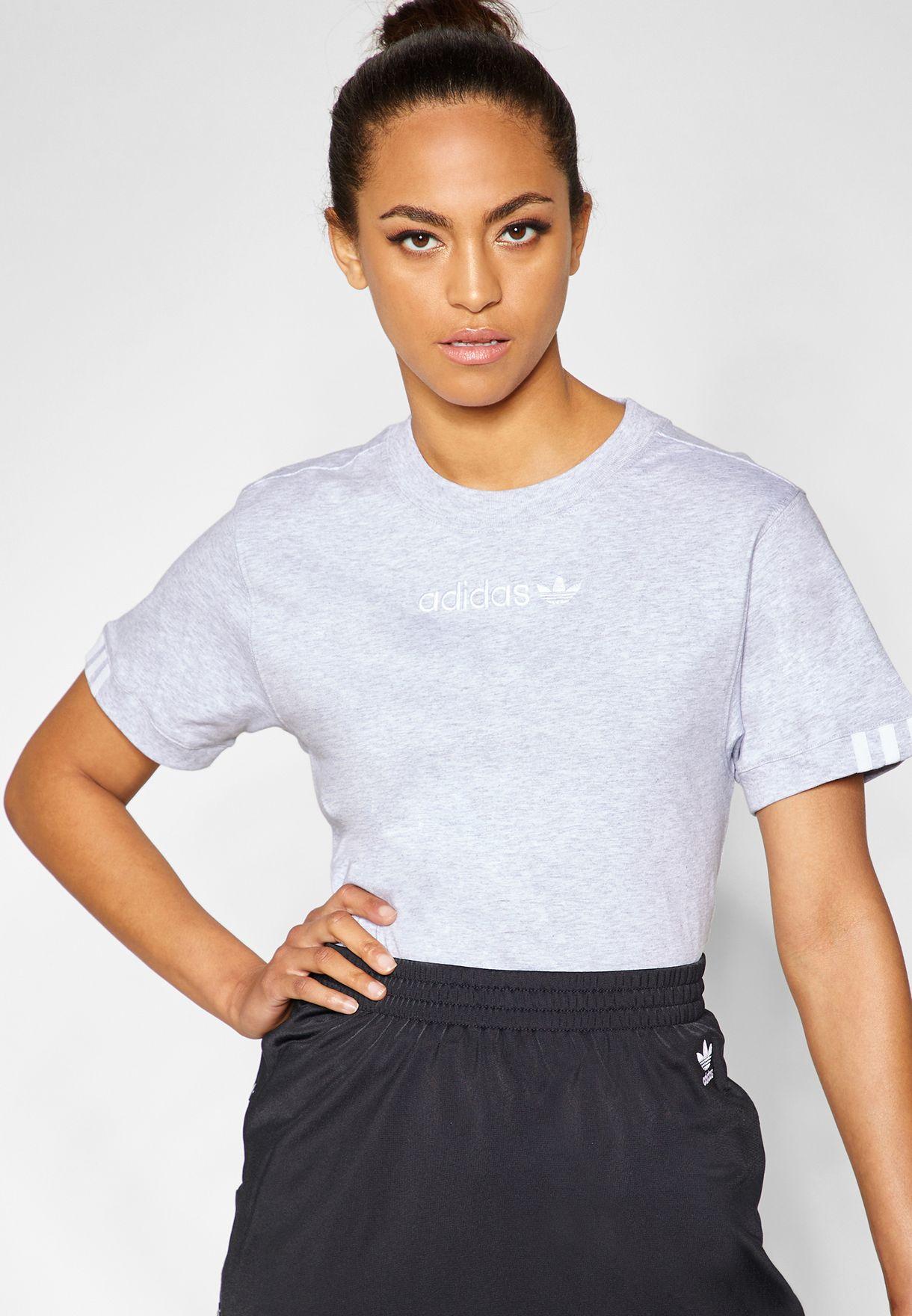 4ffa1526 Shop adidas Originals grey Coeeze T-Shirt DU7191 for Women in Saudi ...