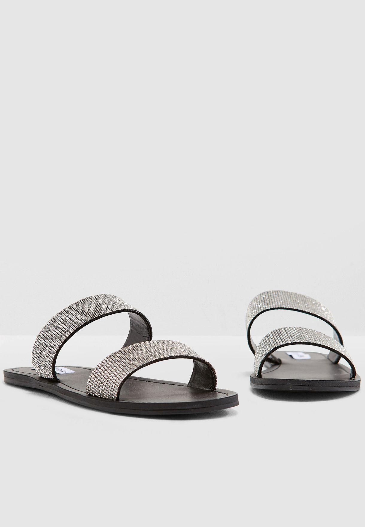 1f92a3541999 Shop Steve Madden black Rage Flat Sandal RAGE for Women in Qatar ...