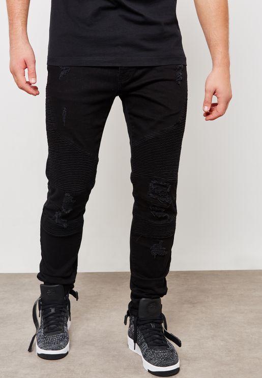 Biker Skinny Fit Jeans